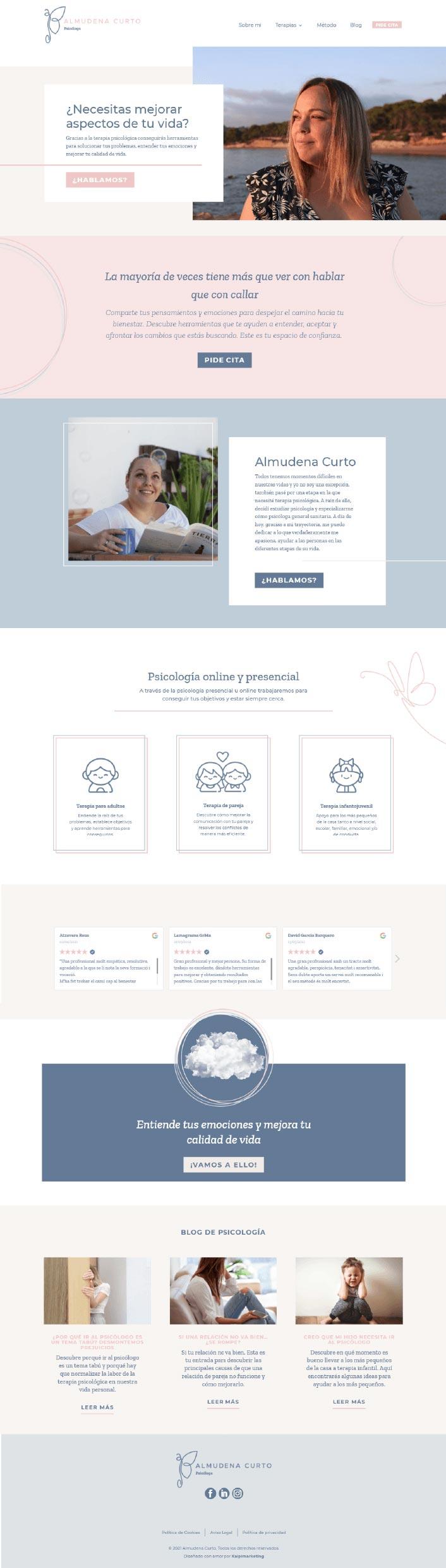 Kaipi Marketing Programacion web para Almudena Curto