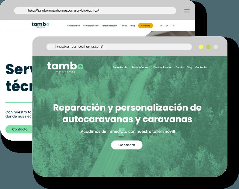 Mockup diseño y programación web Kaipi Marketing