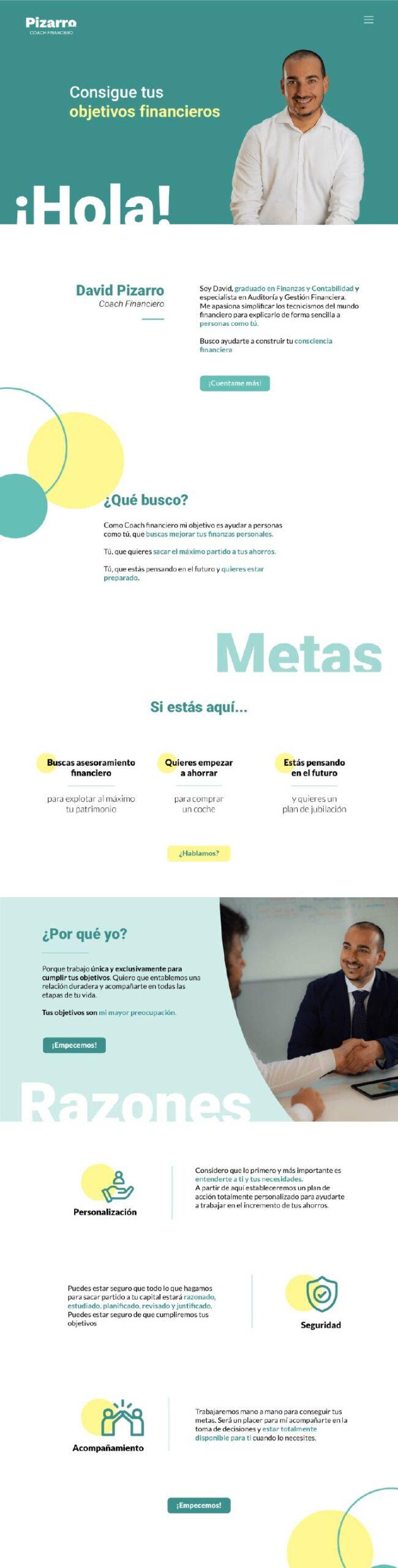 Kaipi Marketing wireframe Pizarro